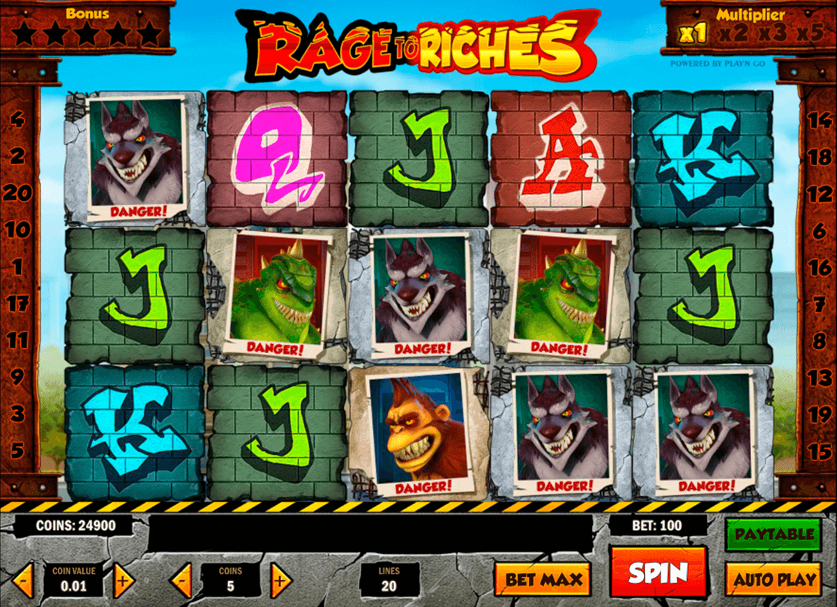 rage to riches playn go casinospil online