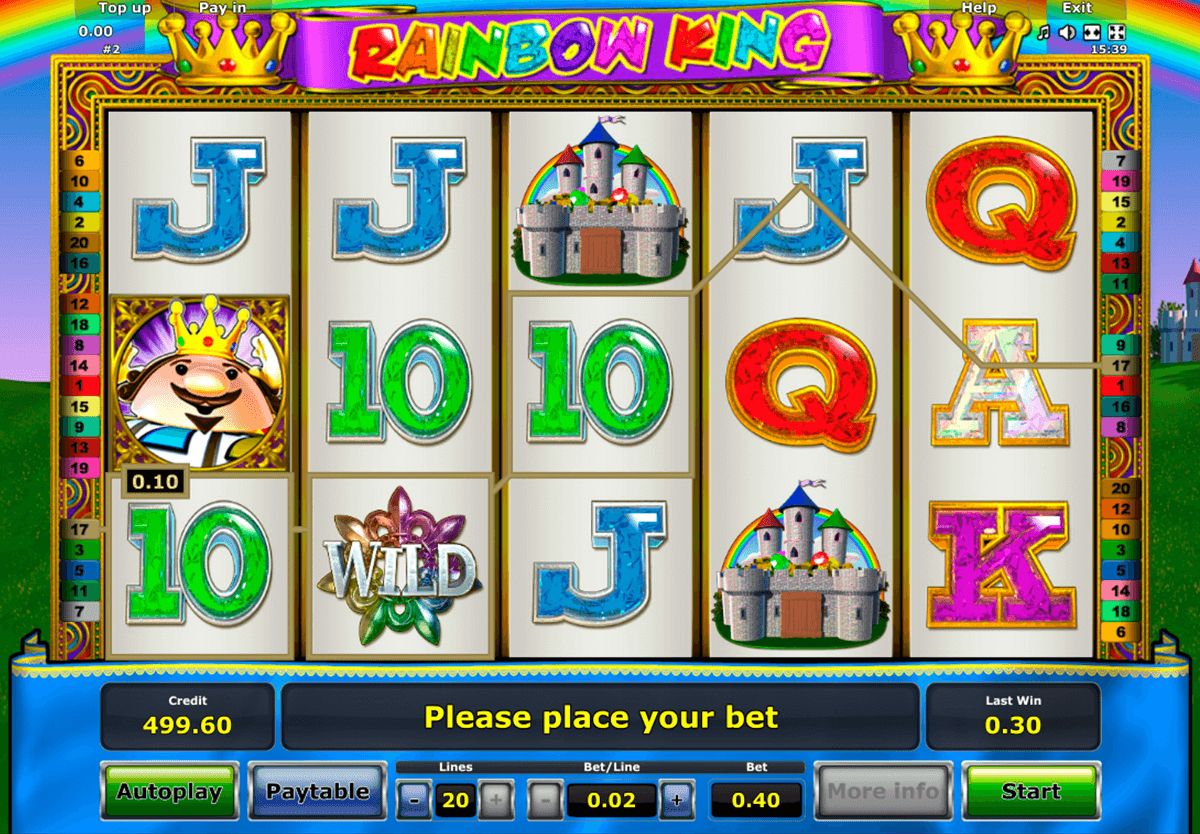 rainbow king novomatic casinospil online