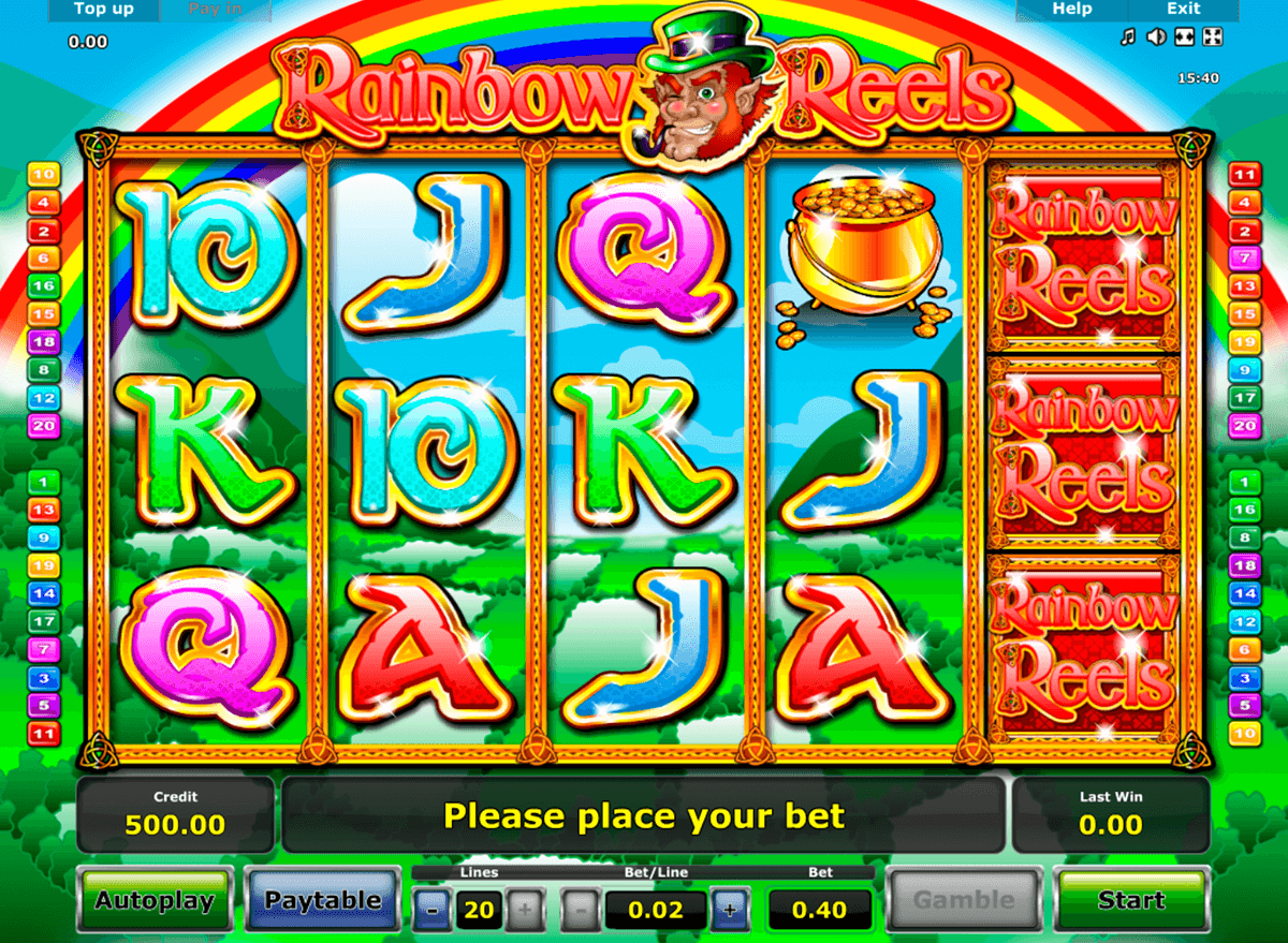rainbow reels novomatic casinospil online