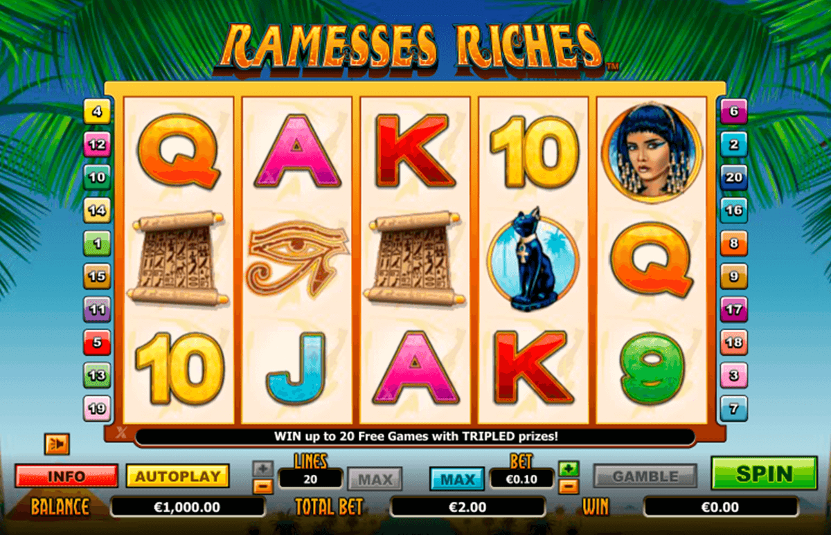 ramesses riches nextgen gaming casinospil online