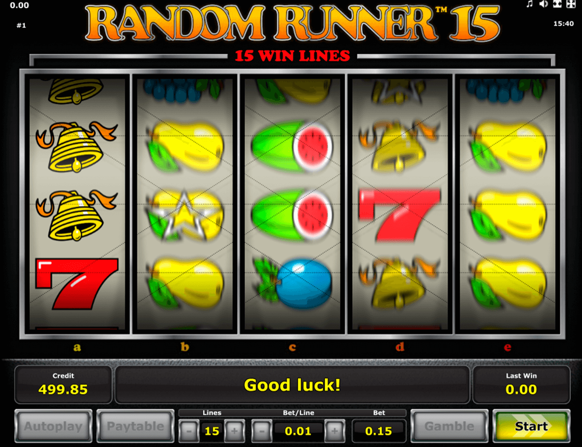 random runner 15 novomatic casinospil online