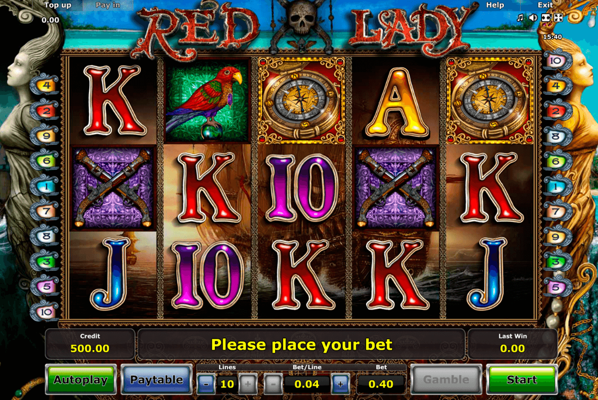 red lady novomatic casinospil online