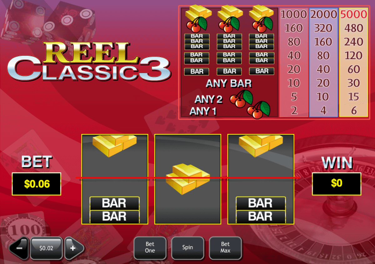 reel classic 3 playtech casinospil online