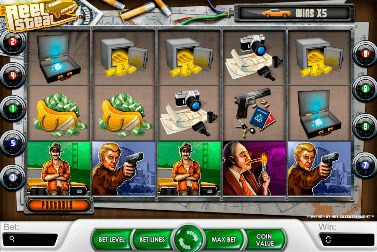 reel steal netent casinospil online