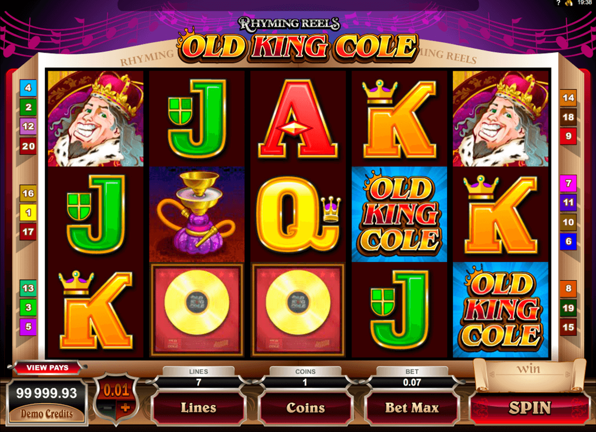 rhyming reels old king cole microgaming casinospil online