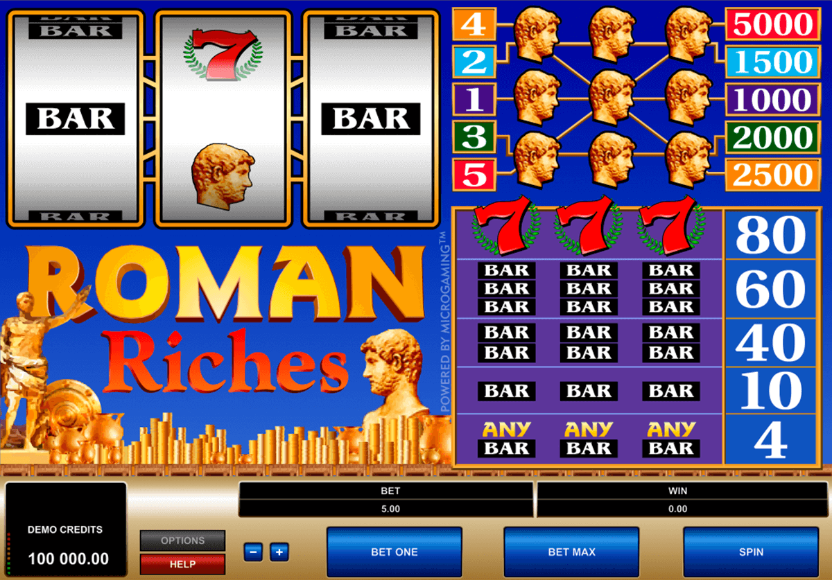 roman riches microgaming casinospil online