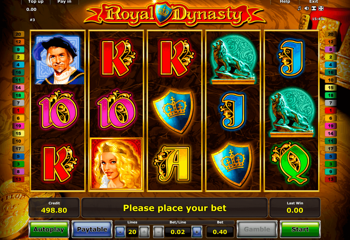 royal dynasty novomatic casinospil online