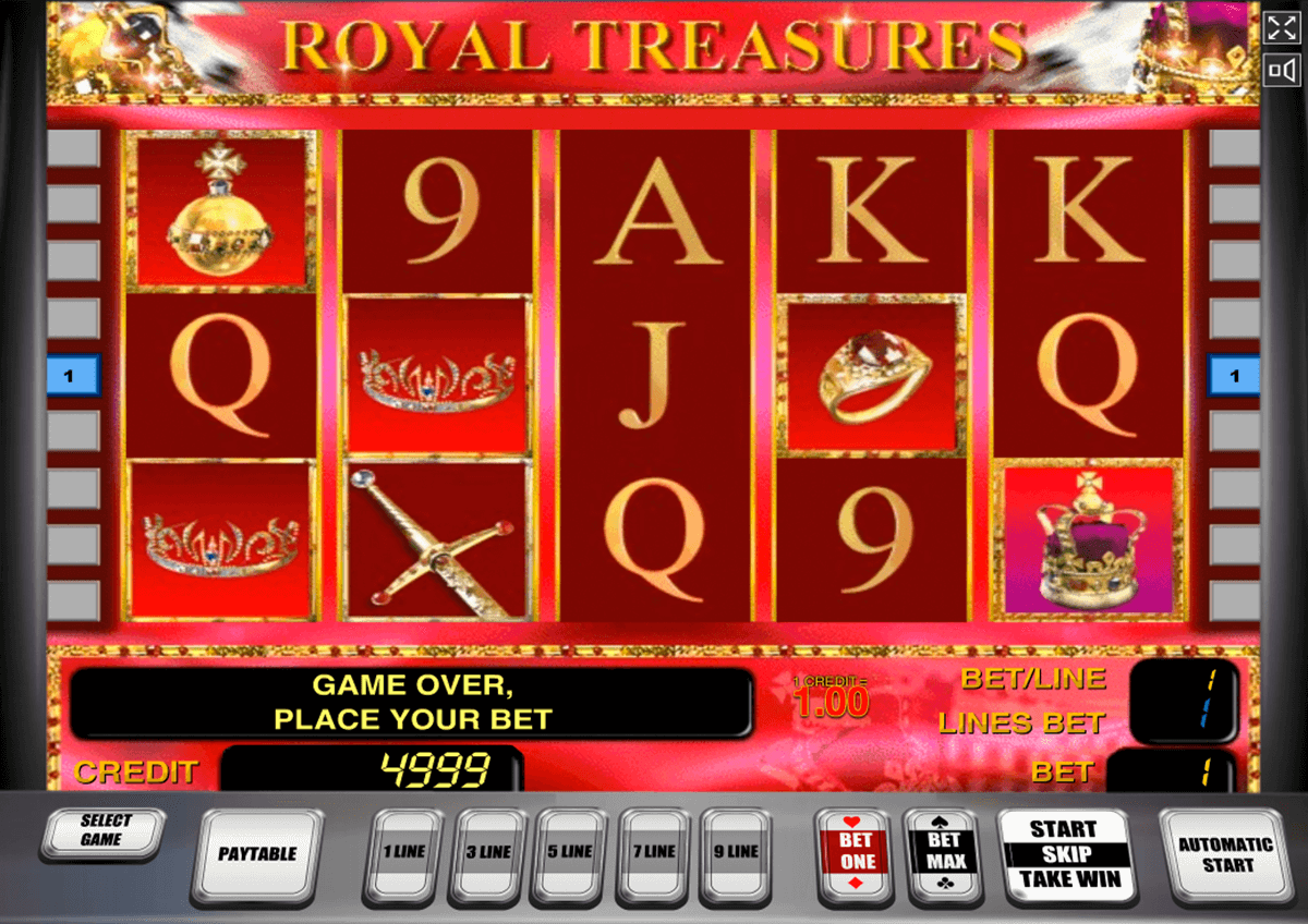 royal treasures novomatic casinospil online
