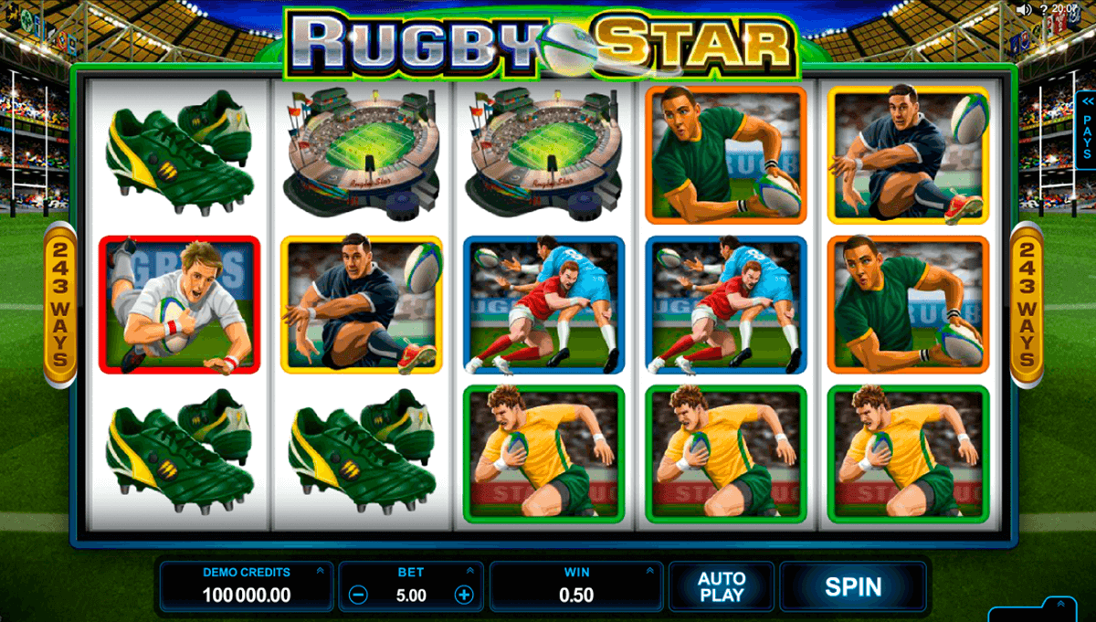 rugby star microgaming casinospil online