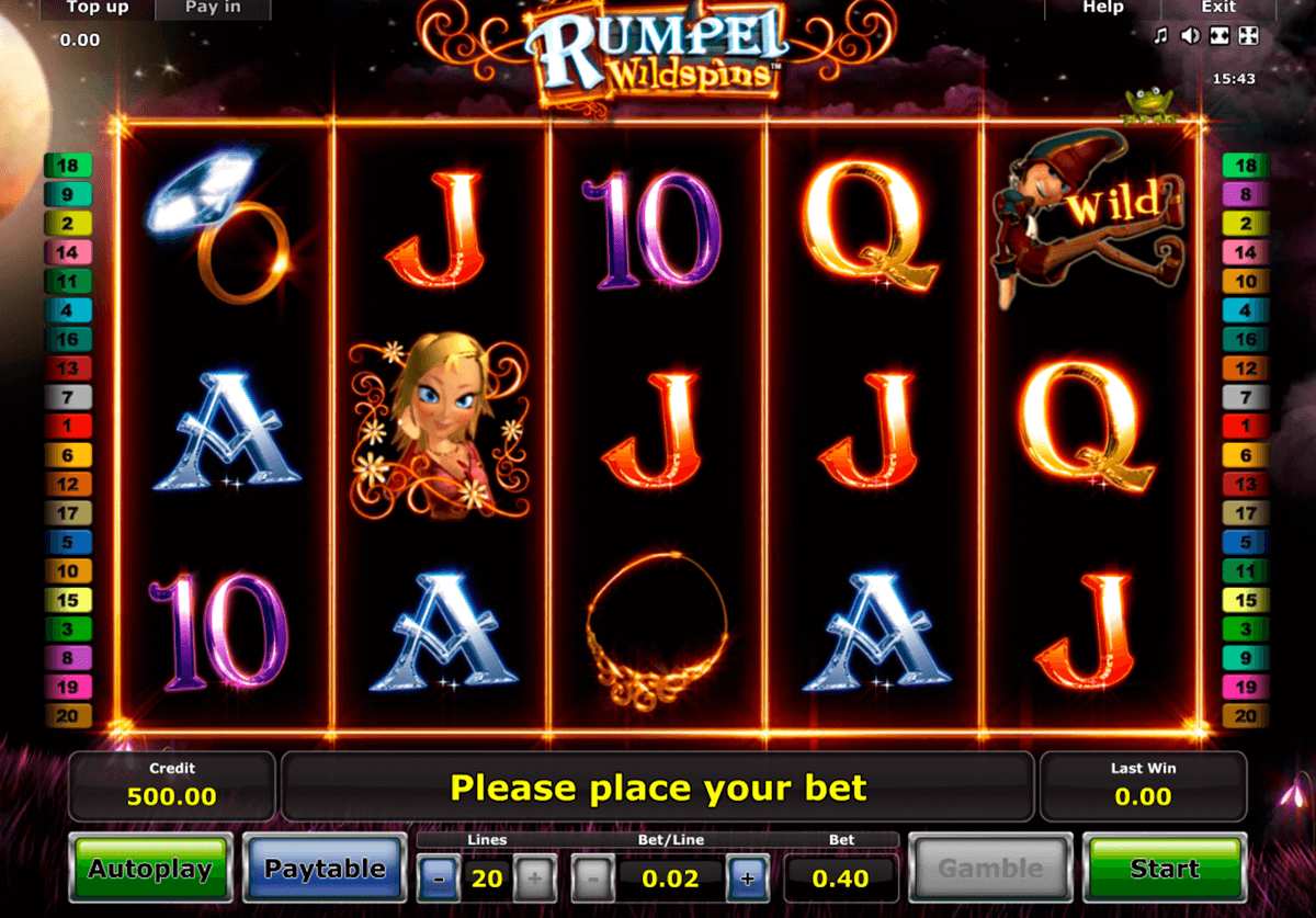 rumpel wildspins novomatic casinospil online