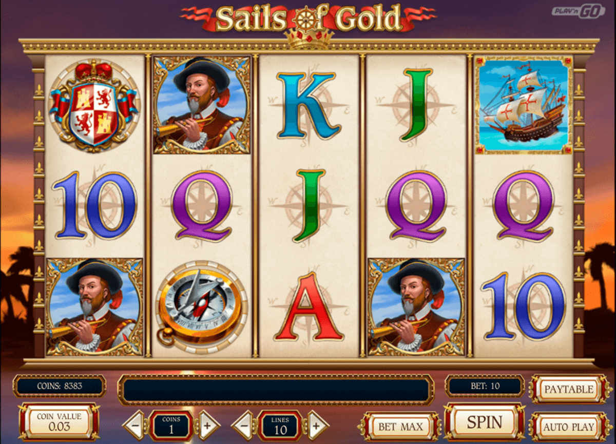 sails of gold playn go casinospil online
