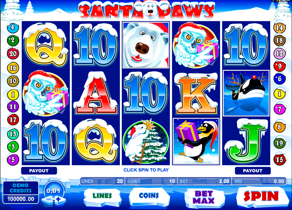 santa paws microgaming casinospil online