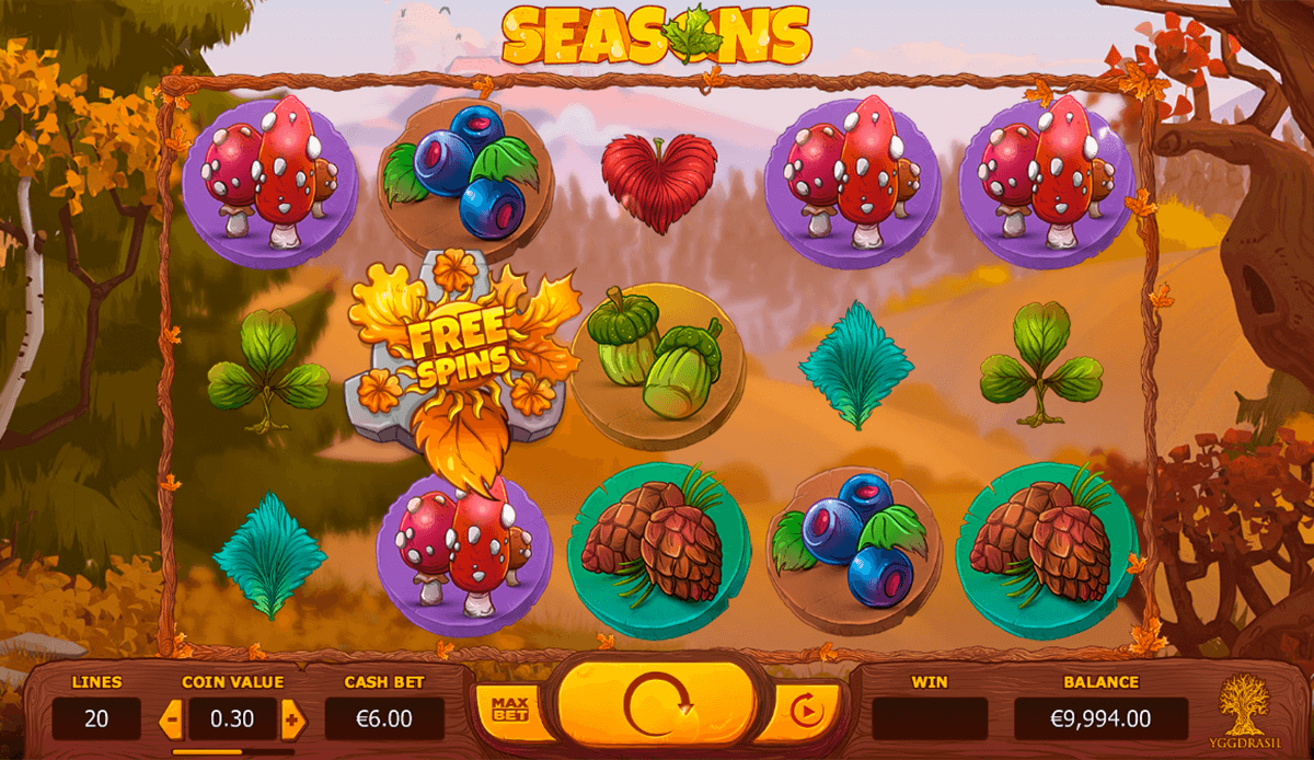 seasons yggdrasil casinospil online