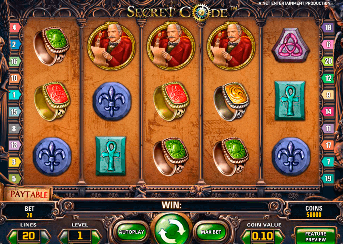 secret code netent casinospil online