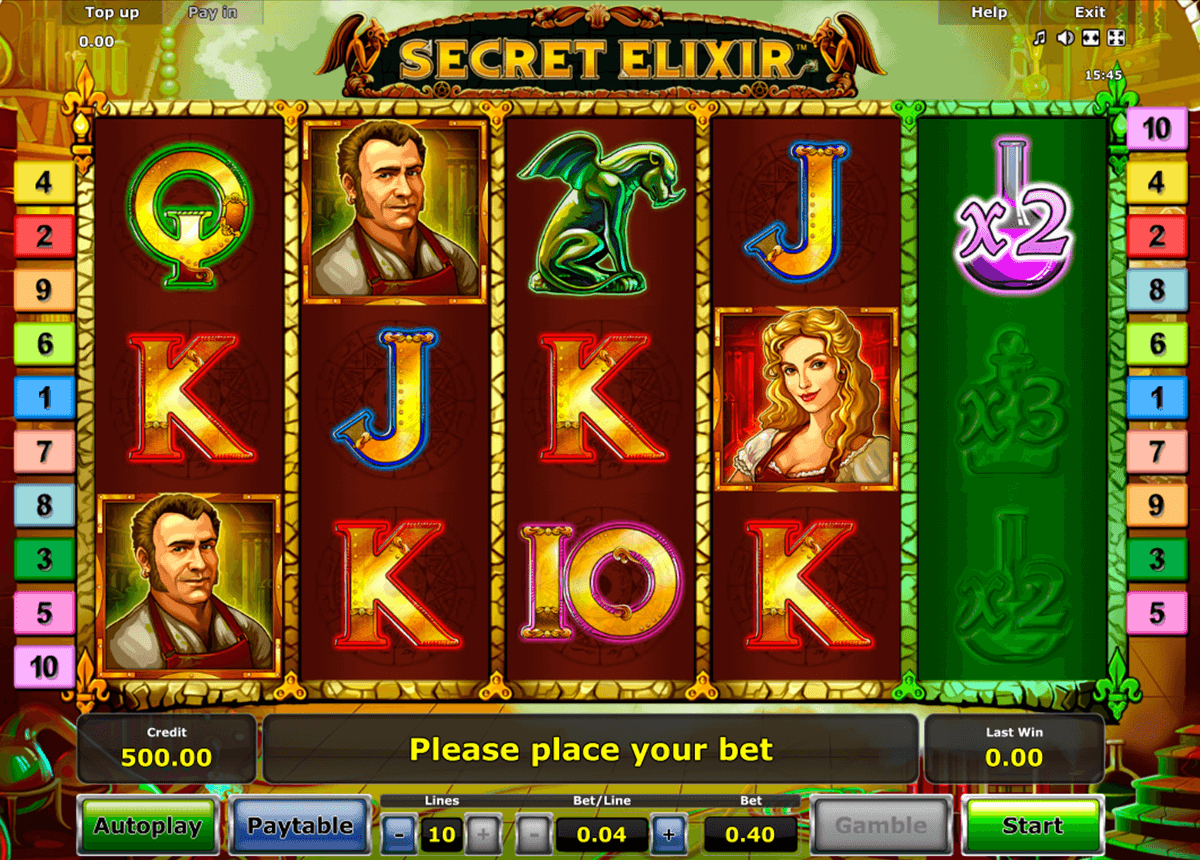 secret elixir novomatic casinospil online