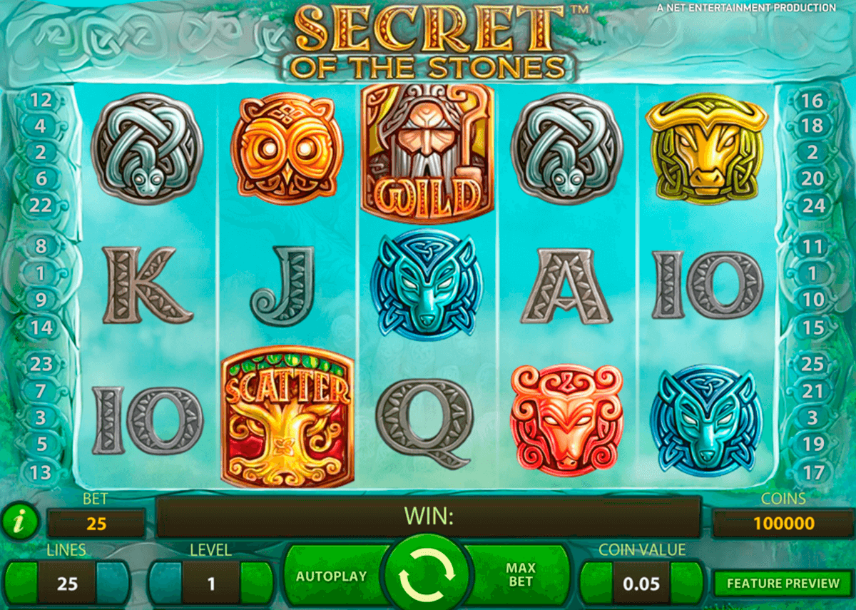 secret of the stones netent casinospil online