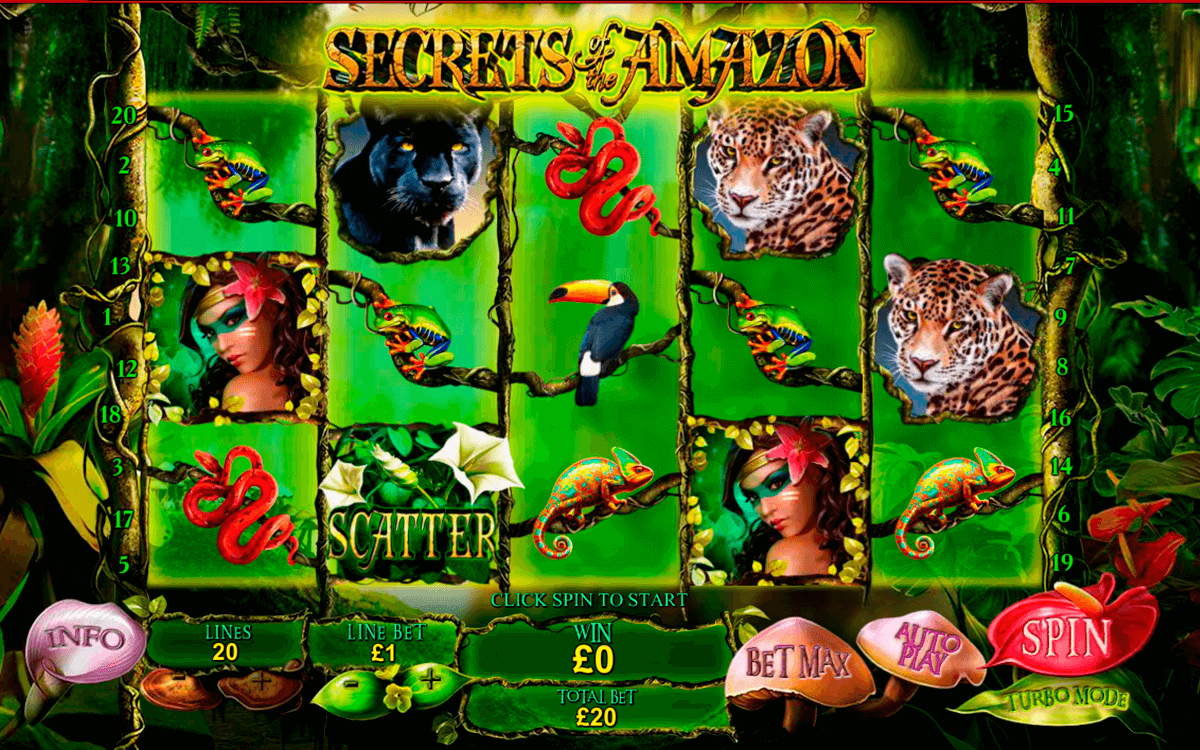secrets of the amazon playtech casinospil online