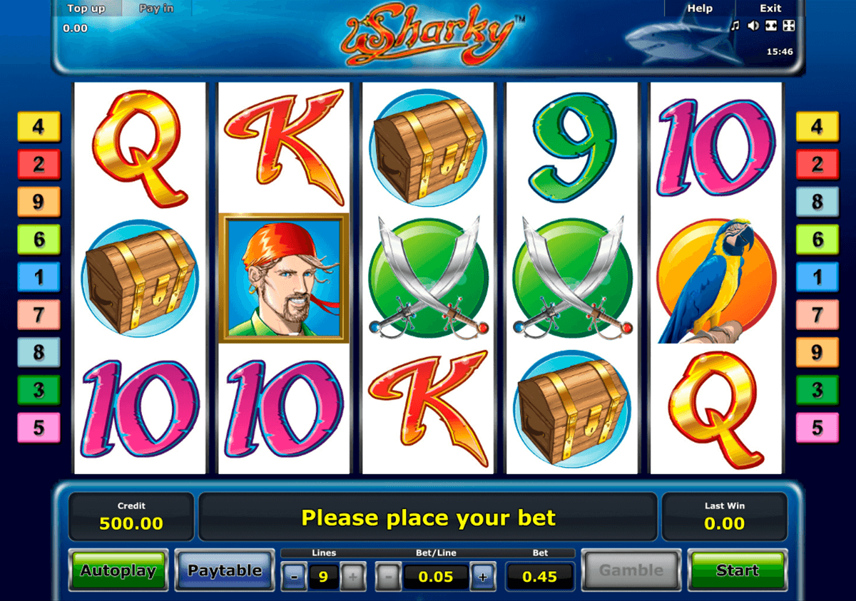 sharky novomatic casinospil online