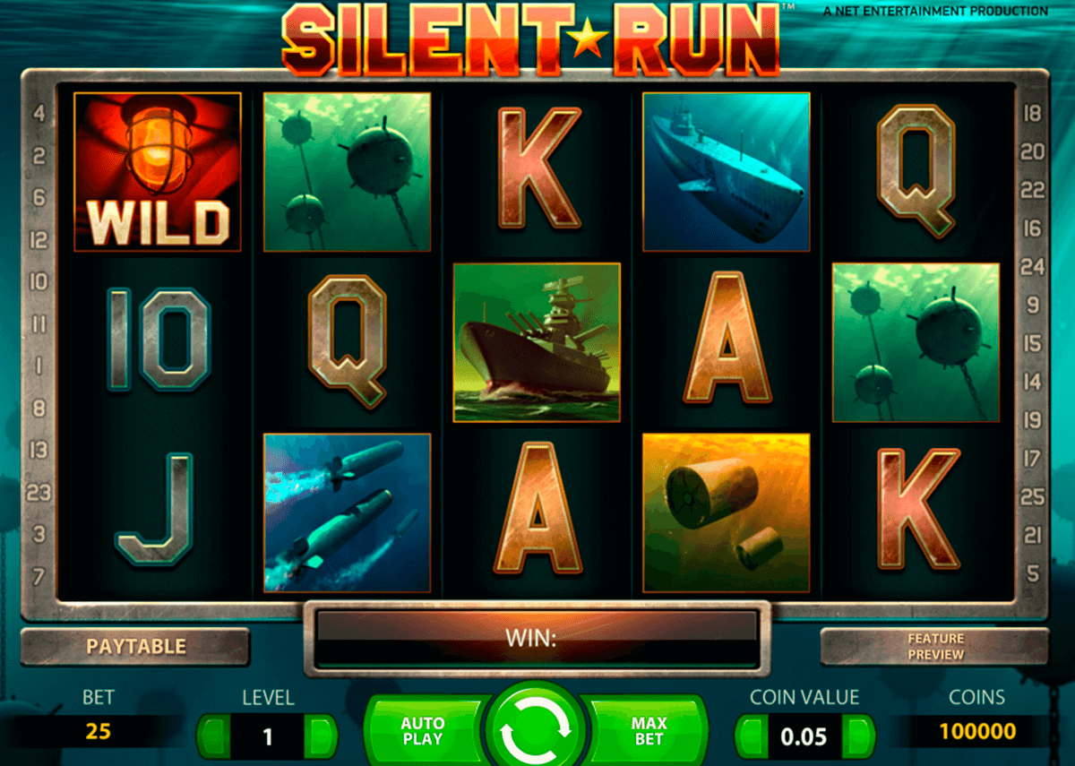 silent run netent casinospil online