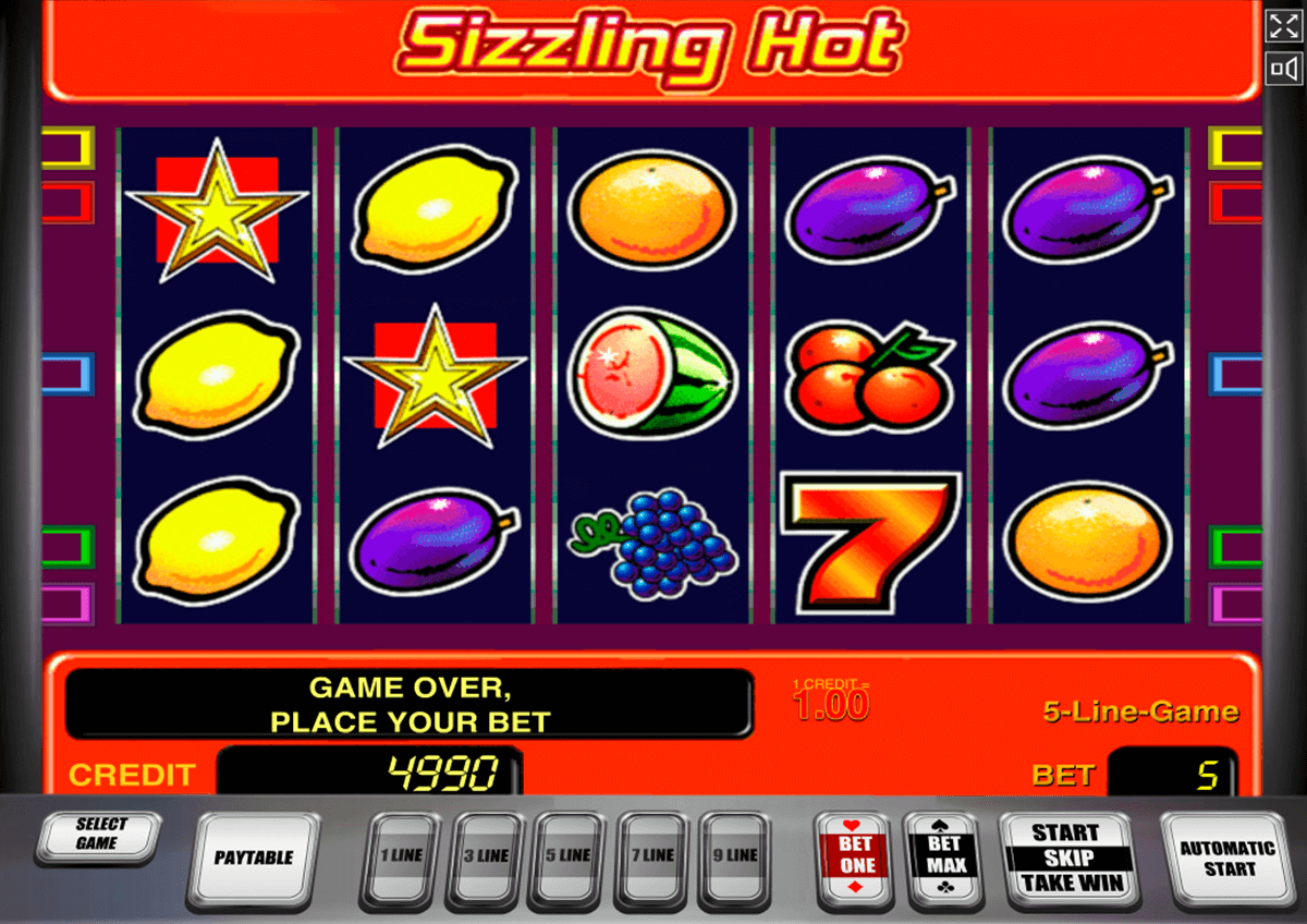 sizzling hot novomatic casinospil online