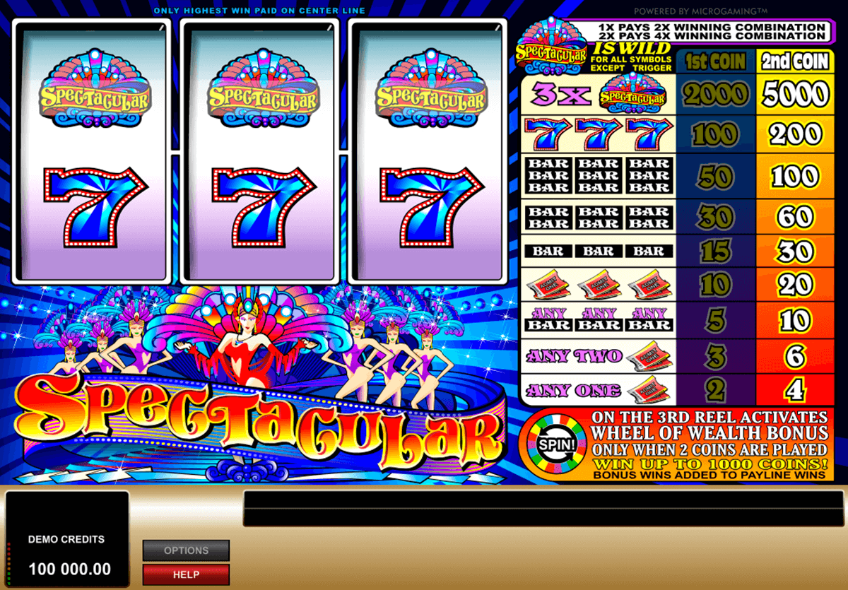 spectacular microgaming casinospil online