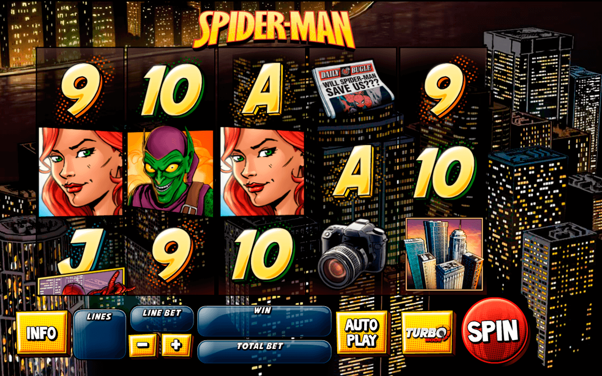 spider man attack of the goblin playtech casinospil online