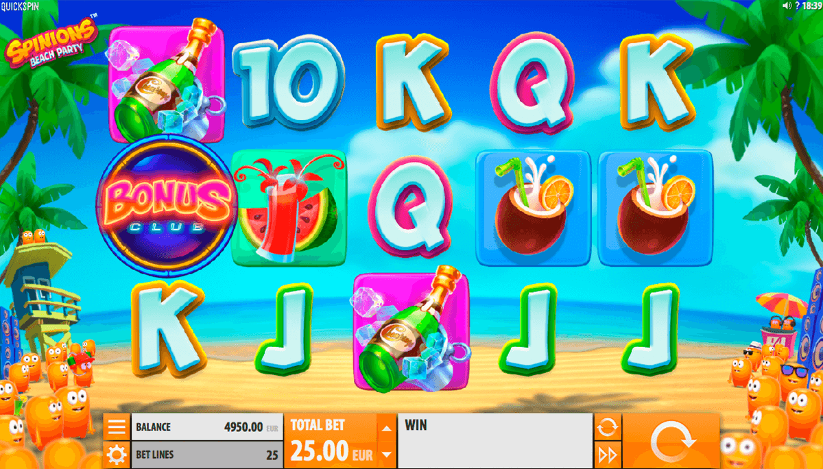 spinions beach party quickspin casinospil online