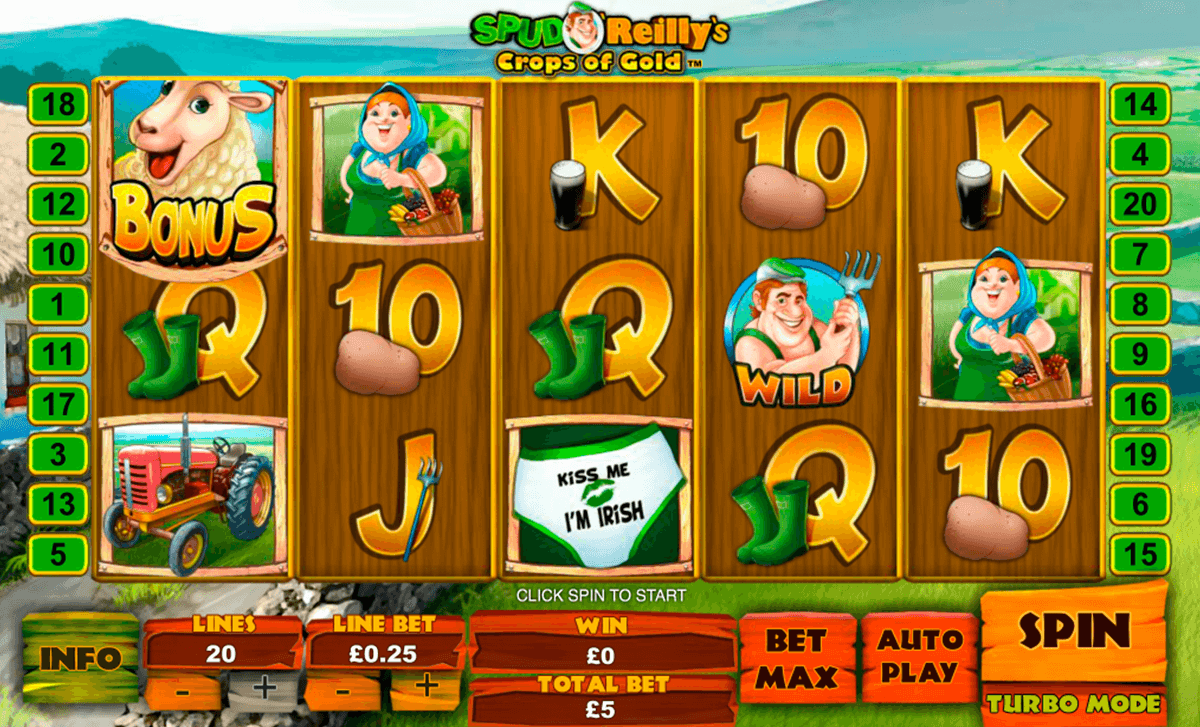 spud oreillys crops of gold playtech casinospil online