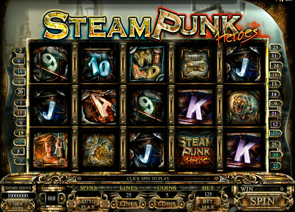 steam punk heroes microgaming casinospil online
