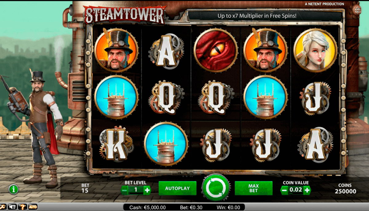 steam tower netent casinospil online