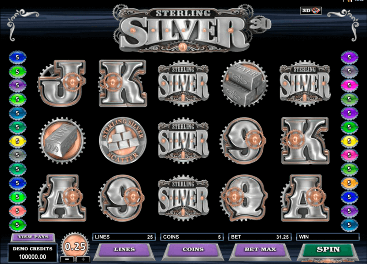 sterling silver 3d microgaming casinospil online