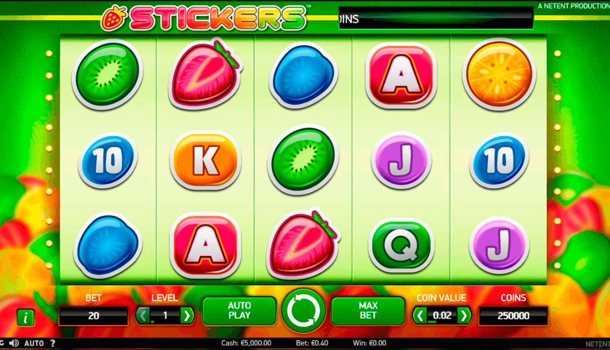 stickers netent casinospil online