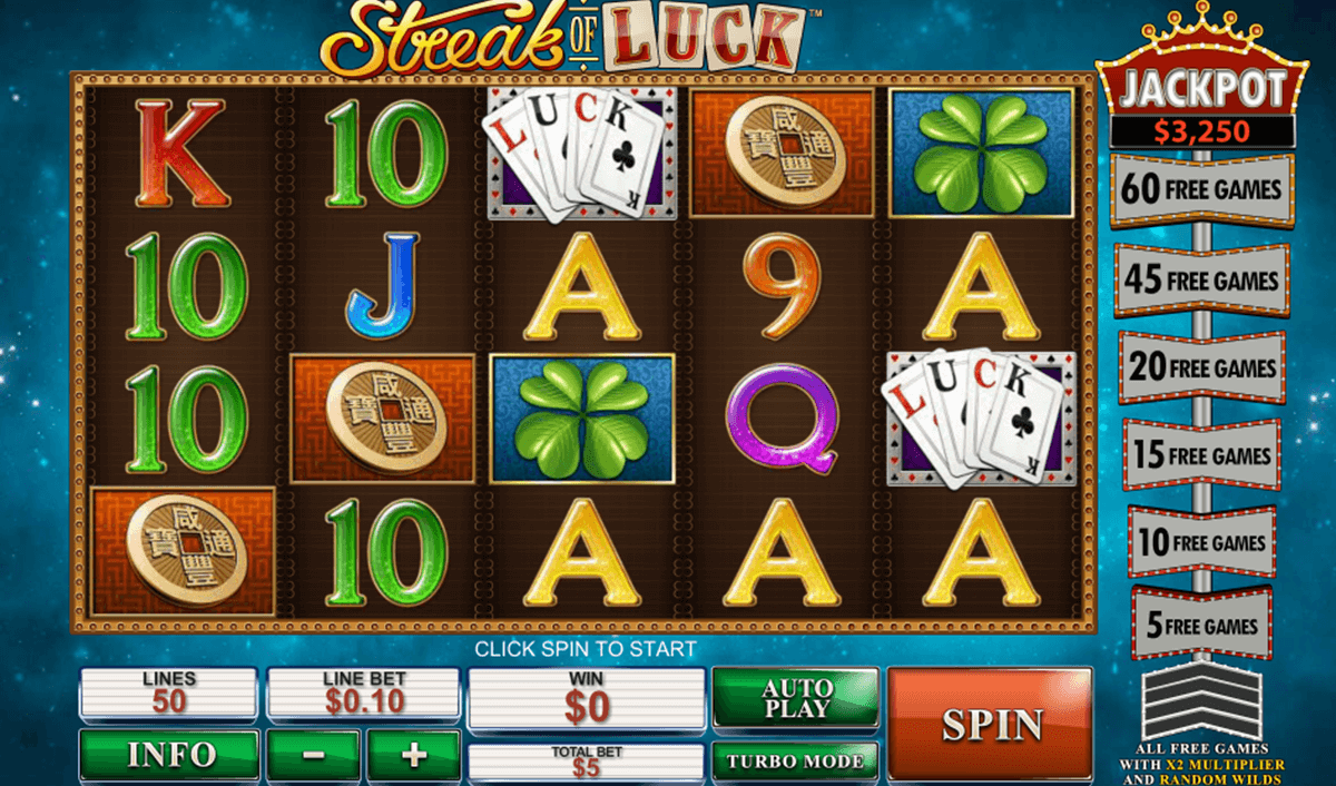 streak of luck playtech casinospil online