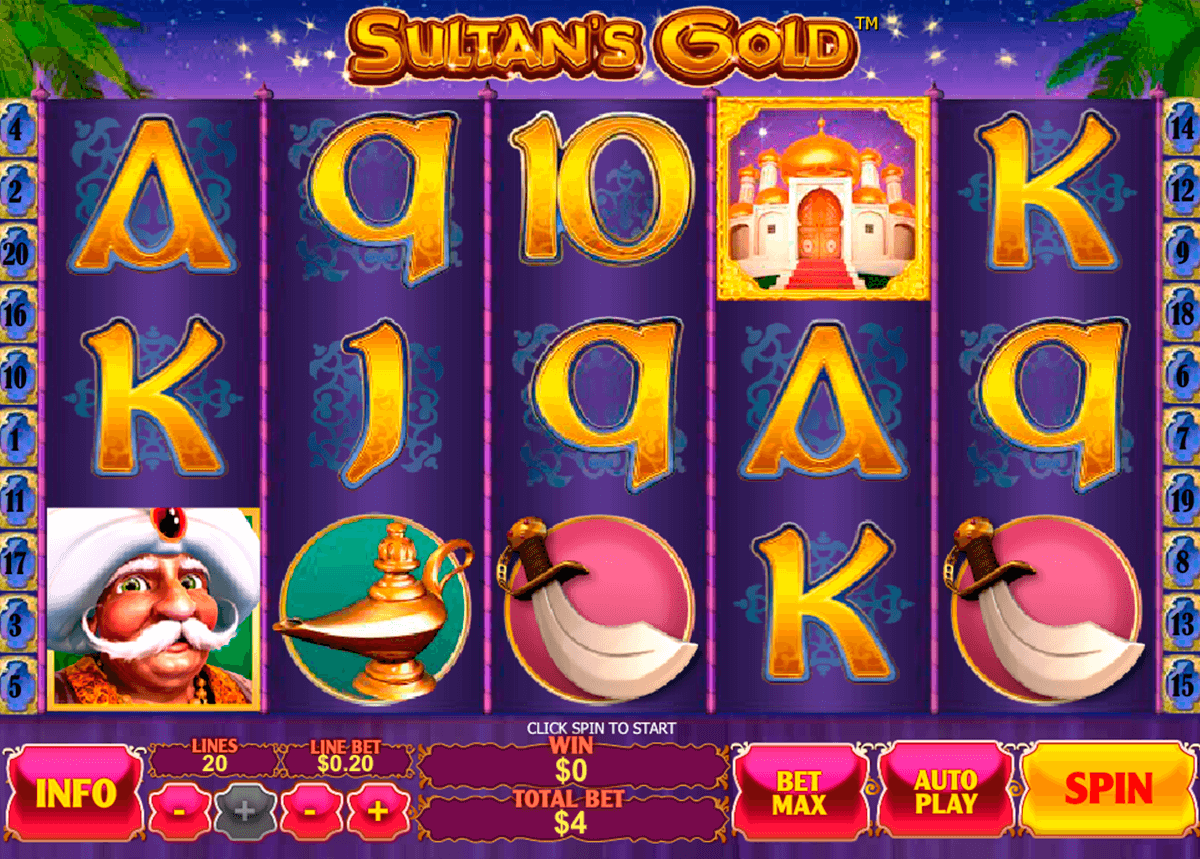 sultans gold playtech casinospil online