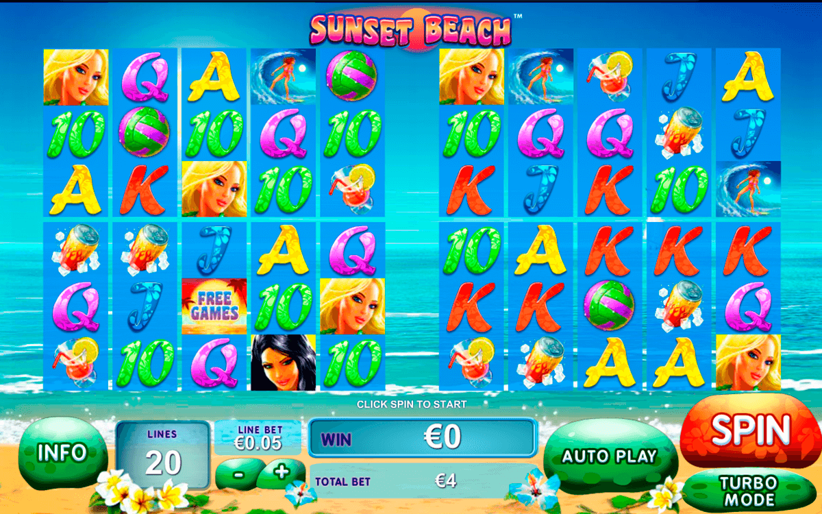 sunset beach playtech casinospil online