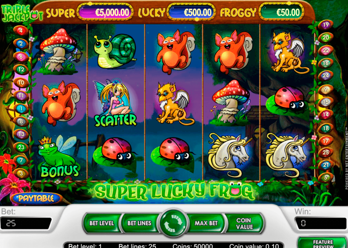 super lucky frog netent casinospil online