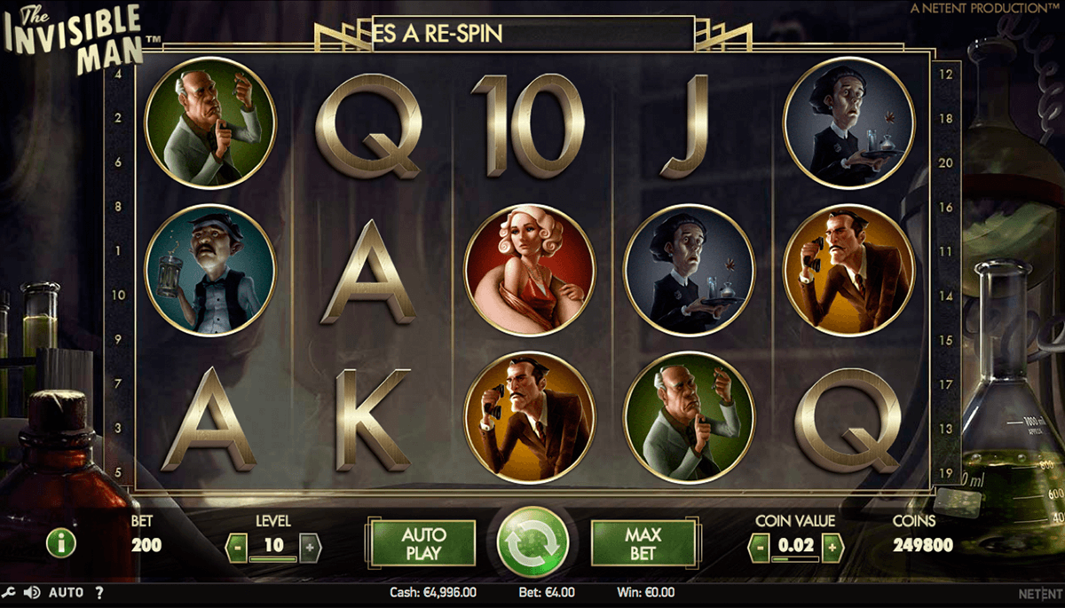 the invisible man netent casinospil online
