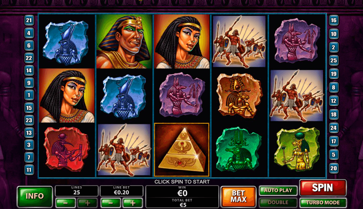 the pyramid of the ramesses playtech casinospil online