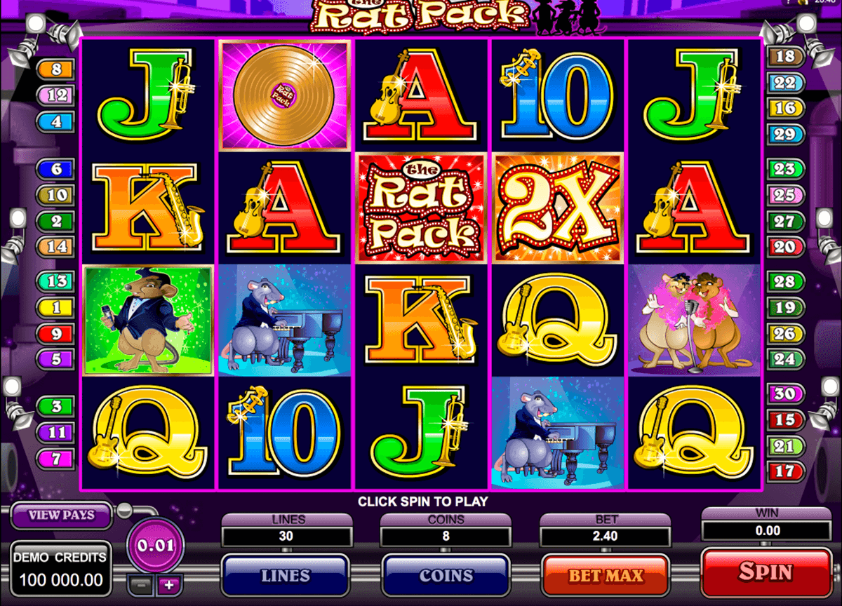 the rat pack microgaming casinospil online
