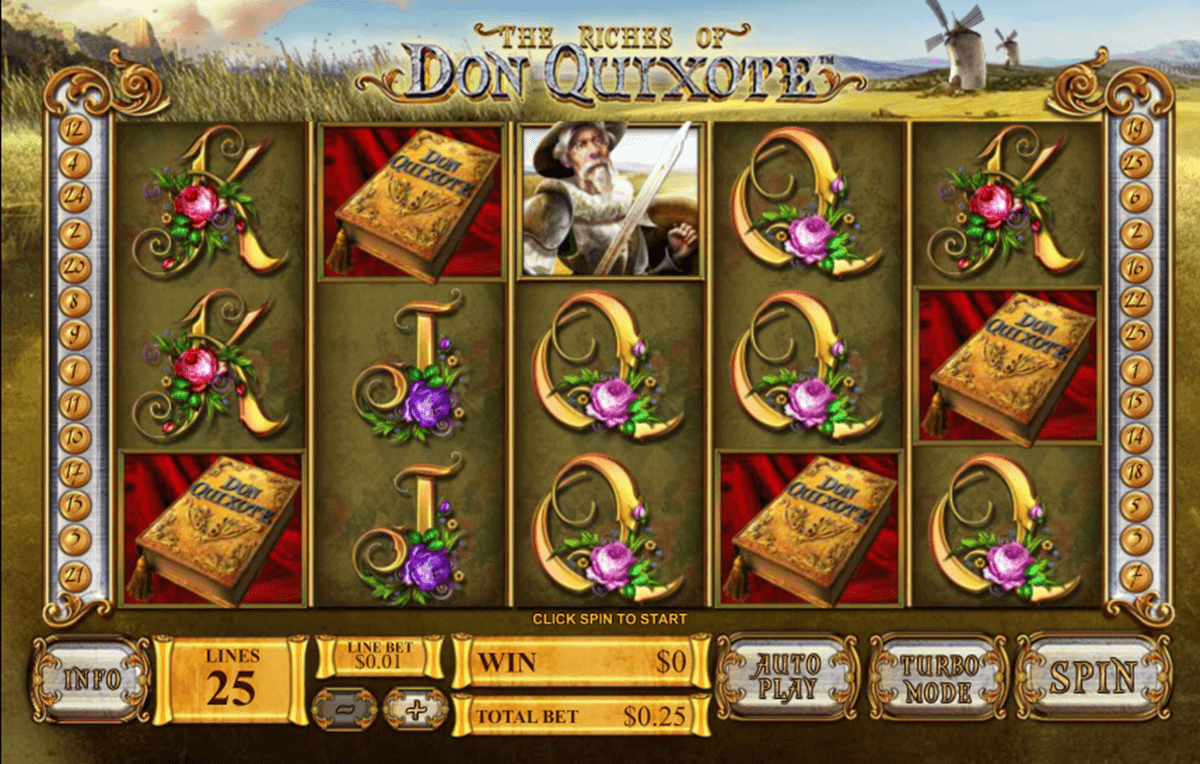 the riches of don quixote playtech casinospil online