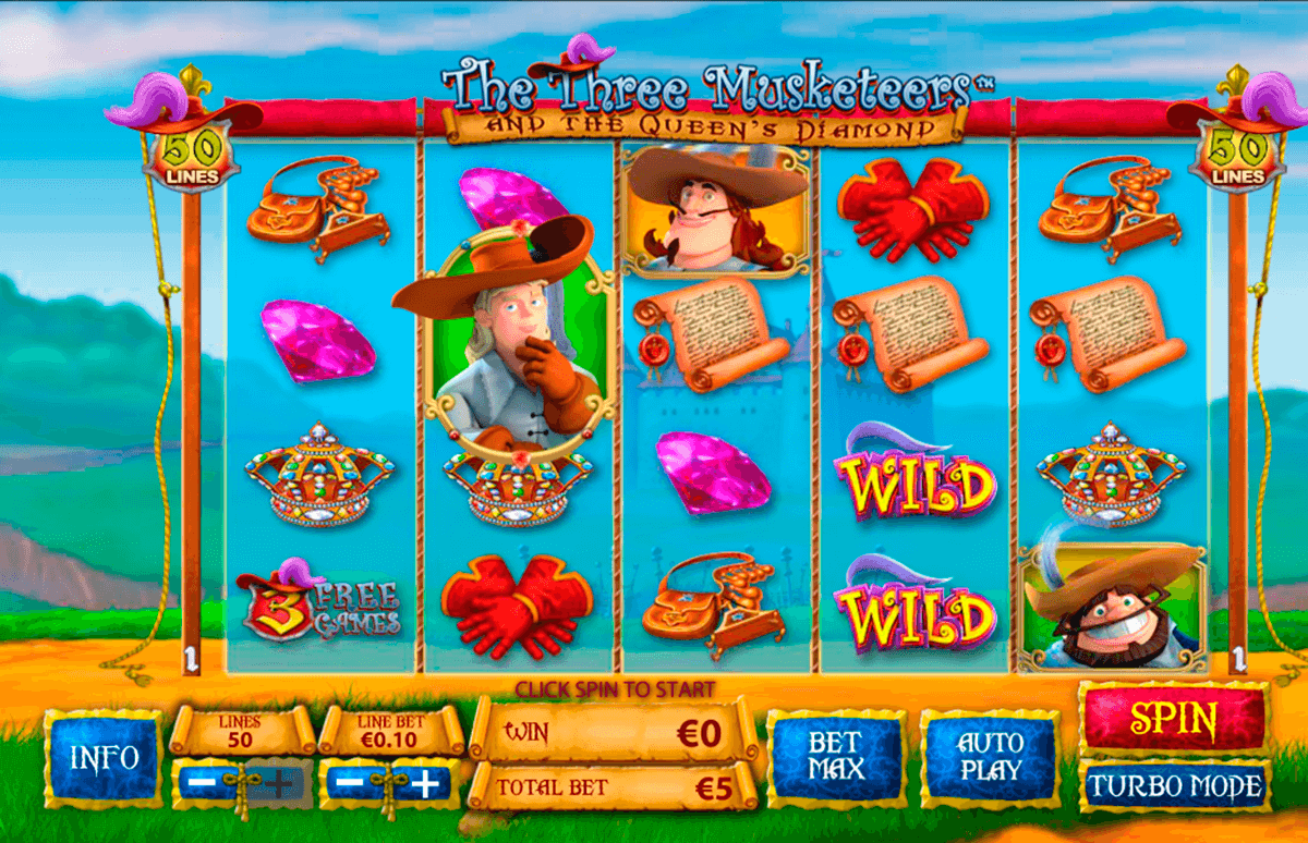 the three musketeers playtech casinospil online