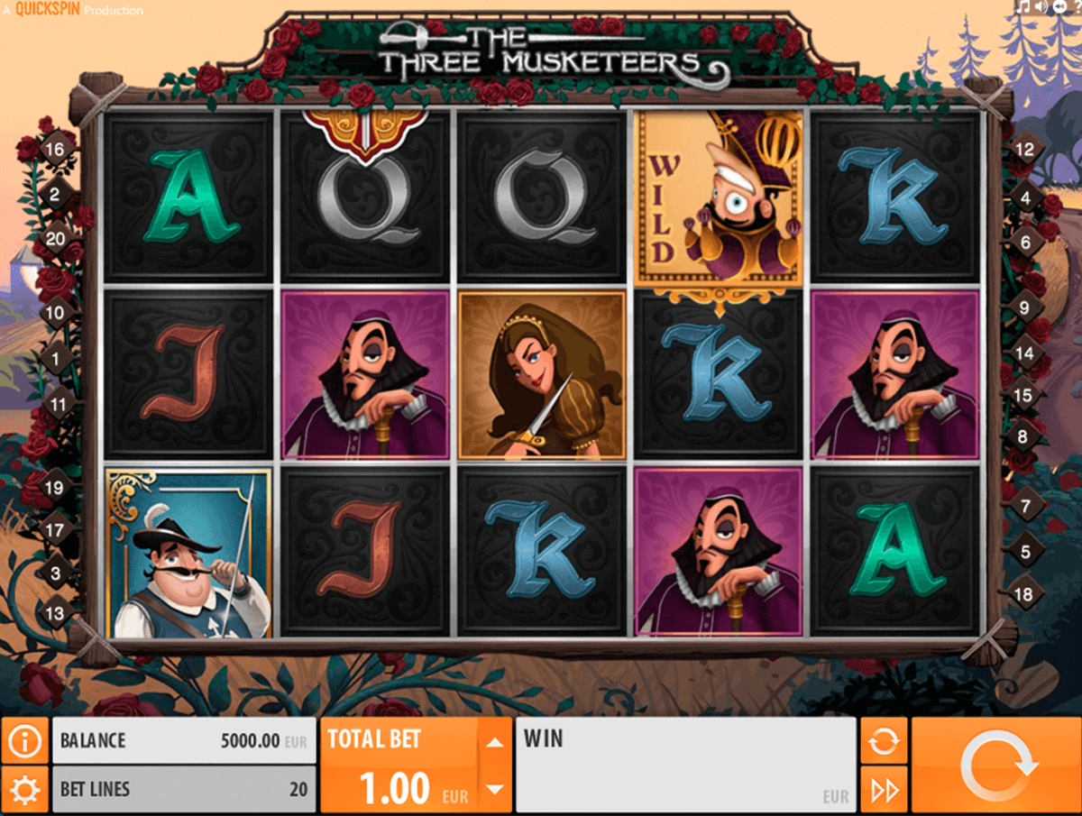 the three musketeers quickspin casinospil online
