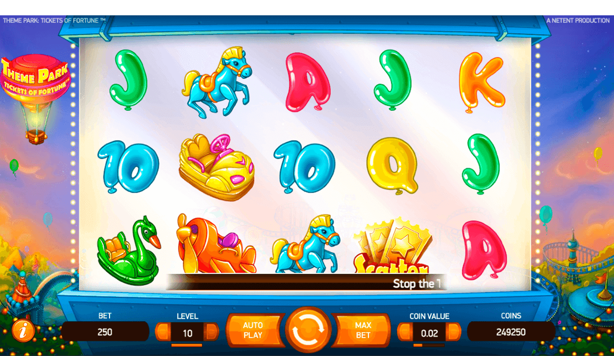 theme park tickets of fortune netent casinospil online