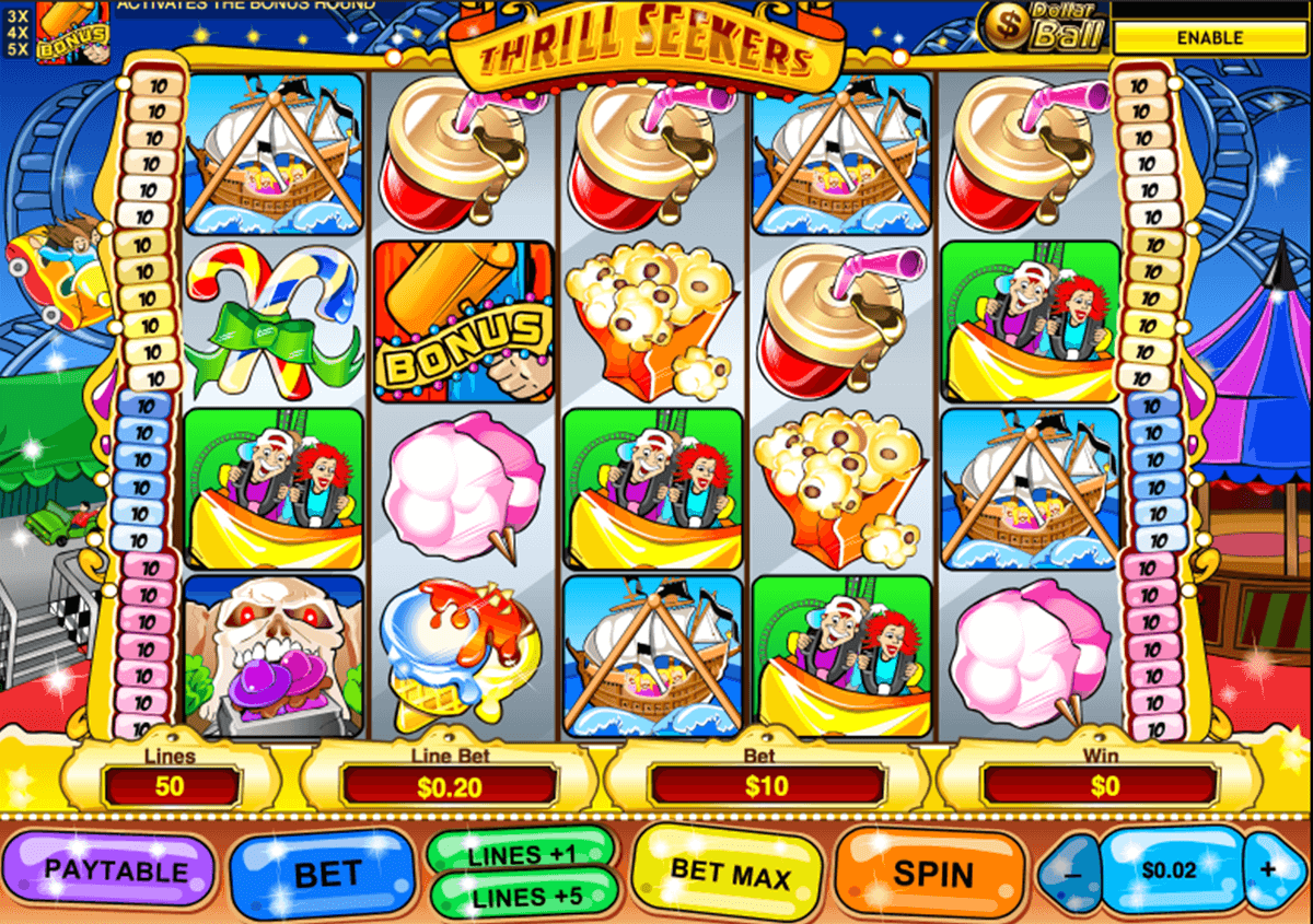 thrill seekers playtech casinospil online