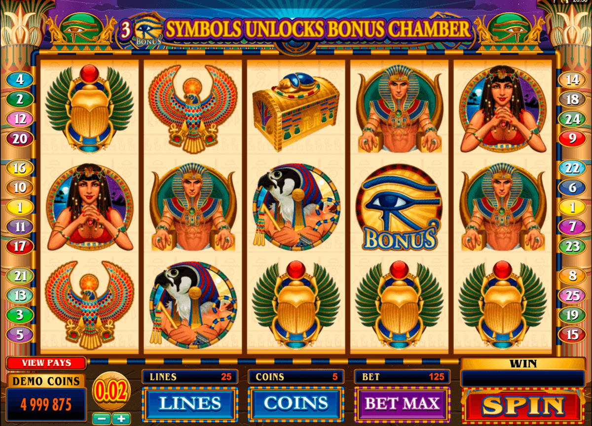 throne of egypt microgaming casinospil online