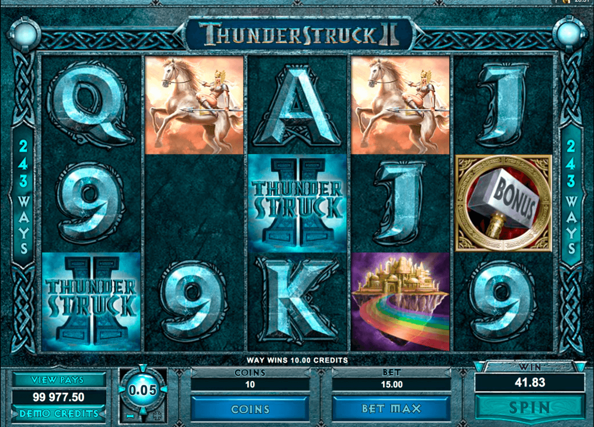 thunderstruck ii microgaming casinospil online