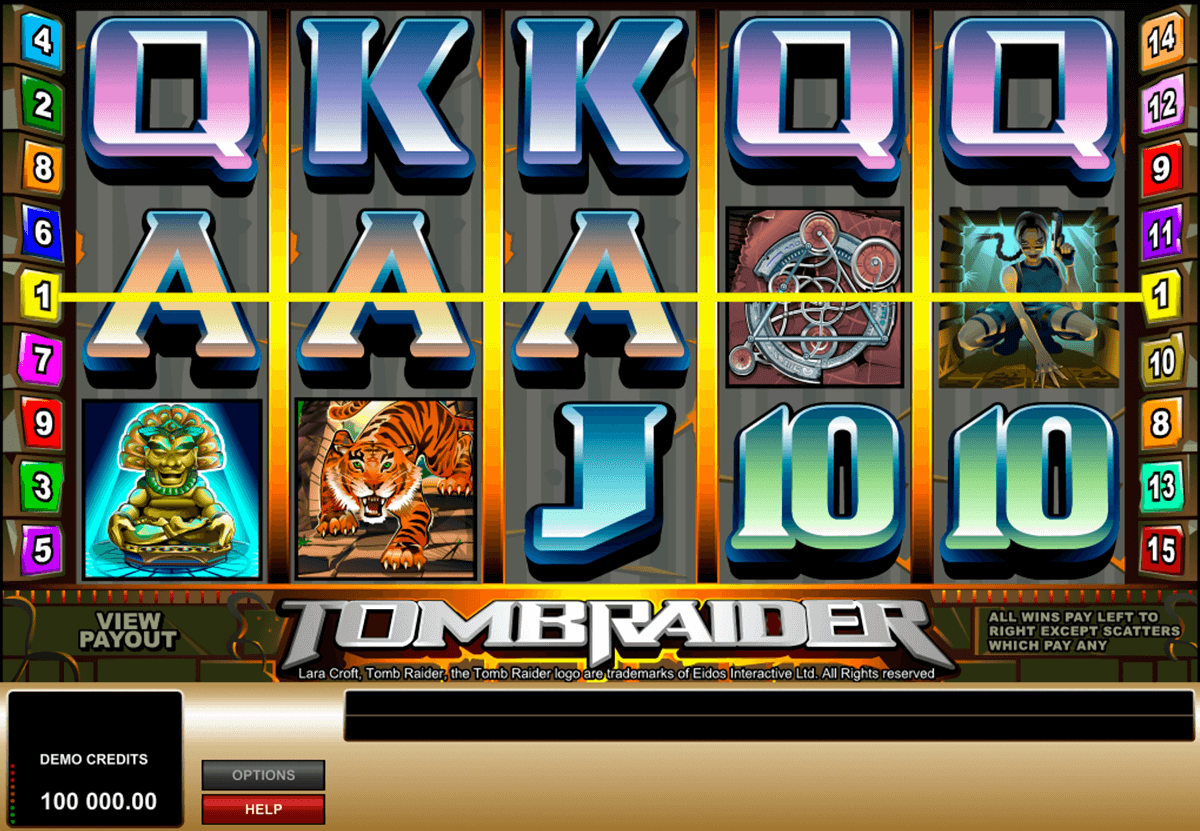 tomb raider microgaming casinospil online