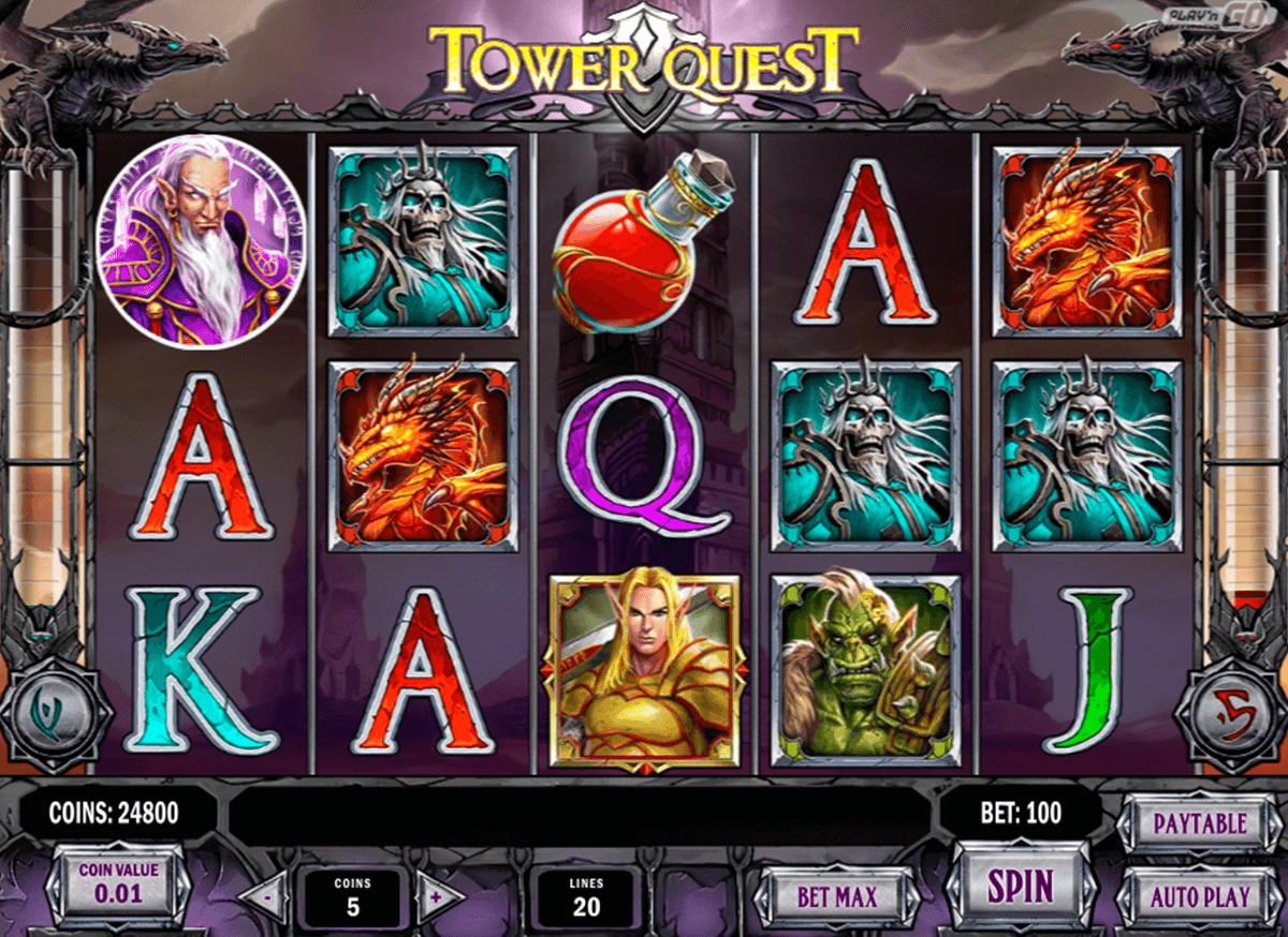 tower quest playn go casinospil online