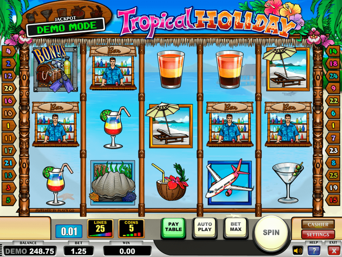tropical holiday playn go casinospil online