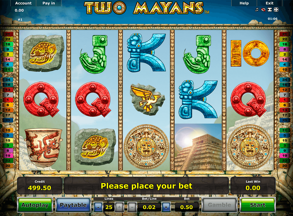 two mayans novomatic casinospil online